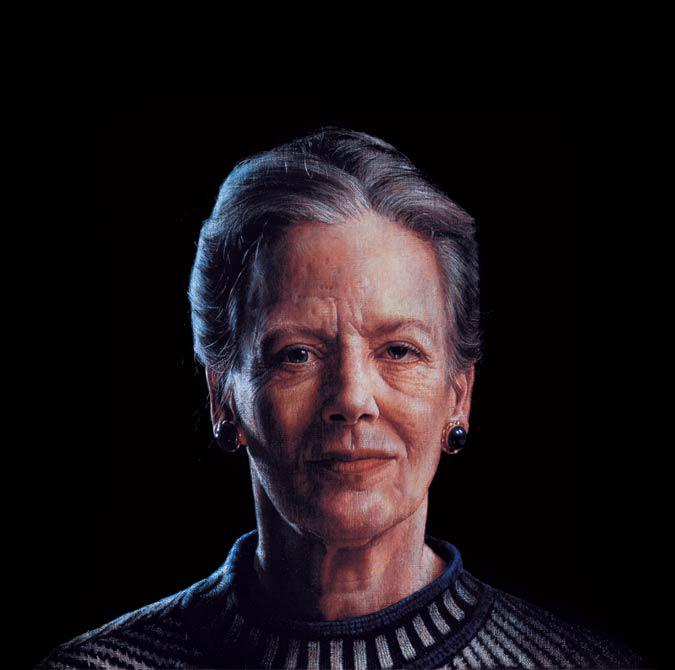 Her Majesty Queen Margrethe ll of Denmark 1996 50 x 50 cm - Thomas Kluge