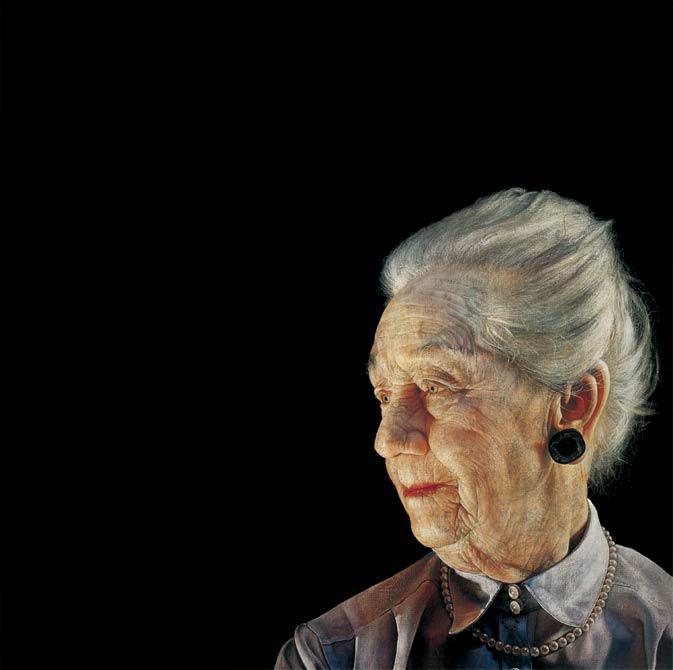 My grandma 2002 71 x 71 cm - Thomas Kluge